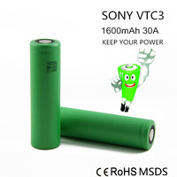 Special classical vtc3 18650 3.7v 1600mah lithium battery for 18650 li ion battery