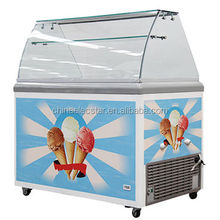 Ice Cream Scooping Freezer/ice cream dipping cabinet/display gelato freezer showcase for canteen/restaurant