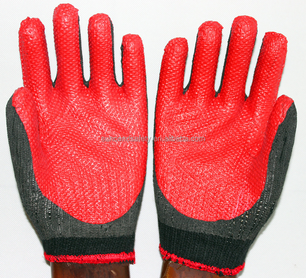 Wear Resistant Welding Use Rubber Laminated Palm Coated Working Gloves