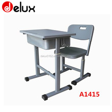 high quality single school desk chair with oval steel frame A1415