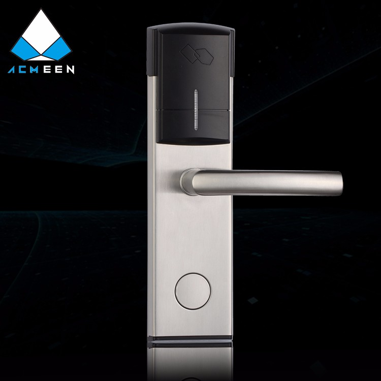 stainless steel magnetic hotel rfid card lock H-103