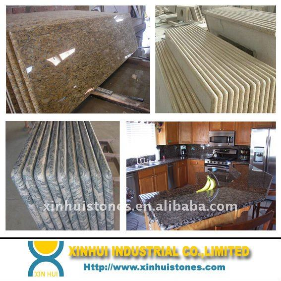 Hot sale Prefab Granite Kitchen Countertop with sinks wholesale