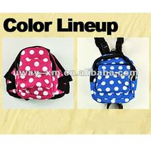 UW-PBP-0015 new design trolley oxford blue pet carrier dog backpack with circle dot for dogs