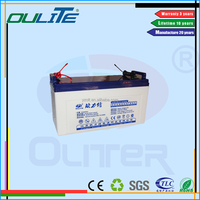 Longest life battery!OEM 12v 100ah solar street light long life power inverter battery bank