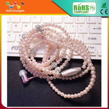 Consumer Electronics stereo necklace earphone Fake Pearl Necklace Earphone