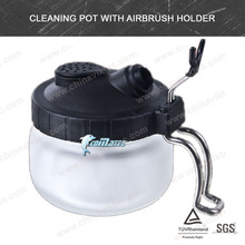 Cleaning Pot with <strong>Airbrush</strong> Holder