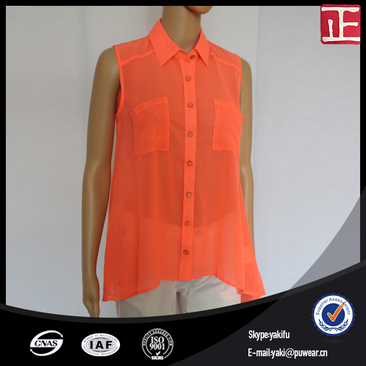 Casual ladies blouses with collar and short sleeve blouse patterns