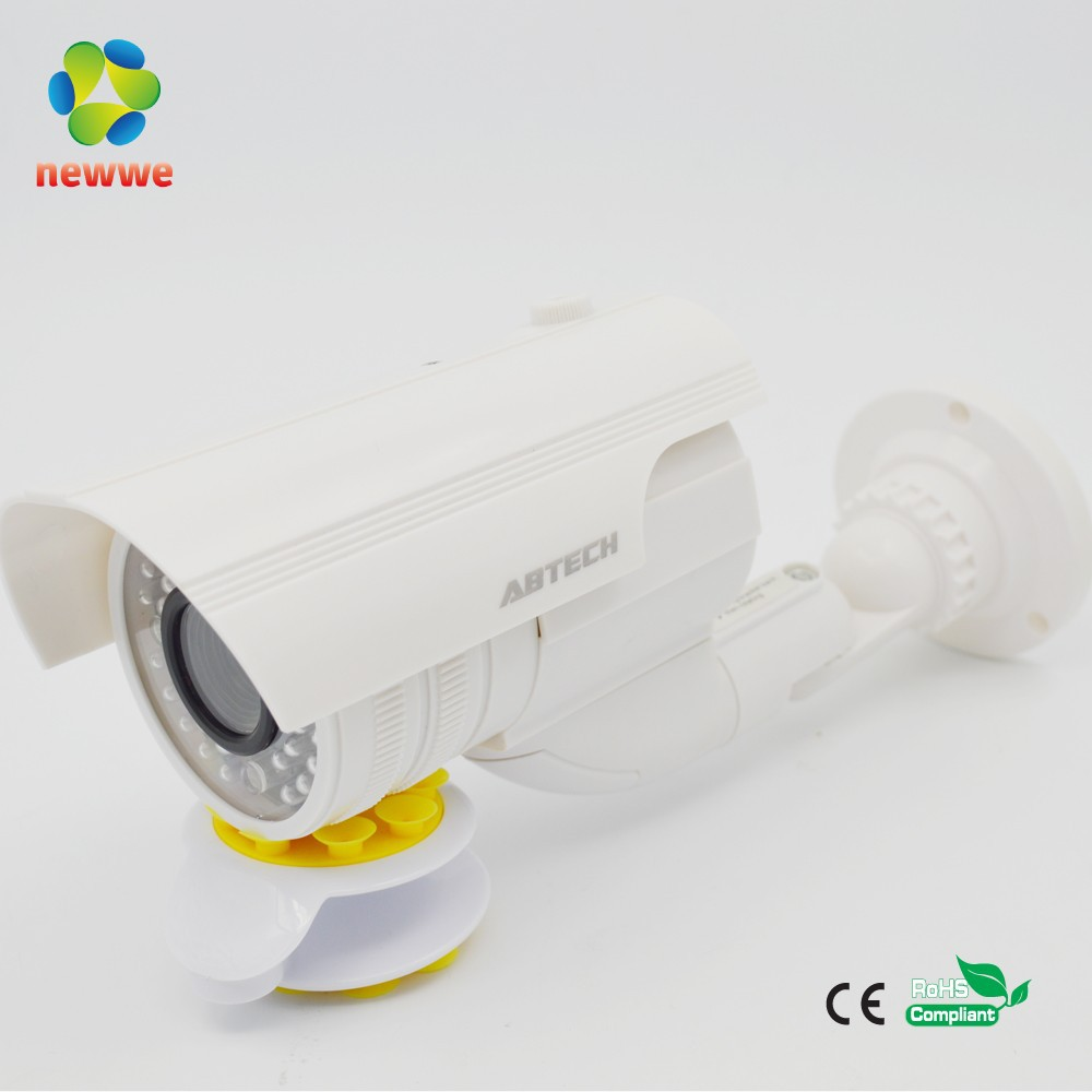 High quality solar powered outdoor detector sensor fake dummy imitation camera with blinking LED red light