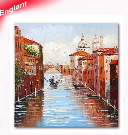 Modern impressionist venice oil painting