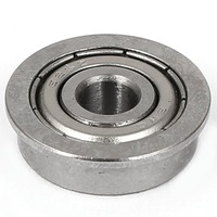 Flanged Ball Bearing F625ZZ F625Z Model Silver High Precision Steel Shielded 5mm ID 16mm OD 5mm Thick for 3D Printer