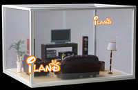 Dollhouse Doll House Transparent Box Display Box WH009