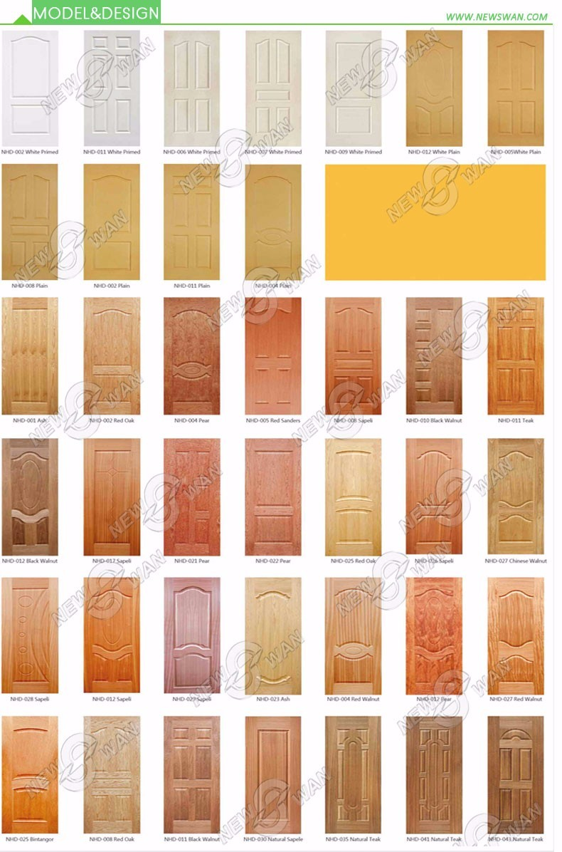 New design wood veneer hdf door skin price buy new for Mahogany door skin