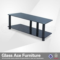 Stainless Steel and Glass TV Stand Design