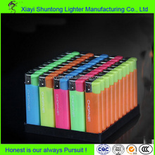Factory bulk cheap gas custom cigarette plastic disposable mini bbq lighter