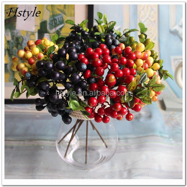 High-Quality Artificial Berry Plants Fake Silk Flowers For Wedding Party Home Decoration Silk Plants 2017 FZH165