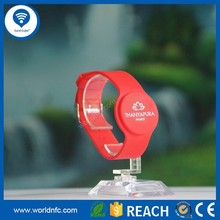 Adjustable silicone new arrival programmable NTAG213 RFID NFC adjustable silicone wristbands