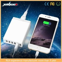 2015 Bestselling 12A USB Wall Charger, 6 USB Laptop Charger Built-in Smart IC and with US/UK/EU Power cord