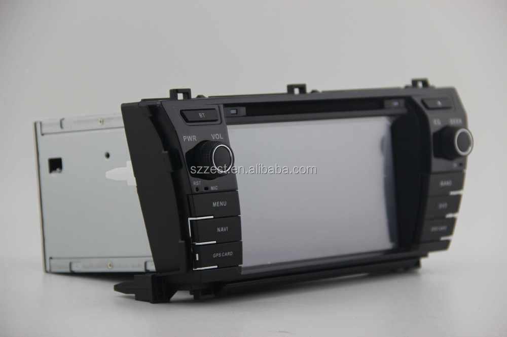 ZESTECH Factory OEM CE/FCC/ROHS certification and 7 inch 2 din car radio for TOYOTA COROLLA 2014