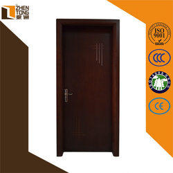 Hinge invisible/visible finished surface finishing mdf door,wood door design window,entry doors