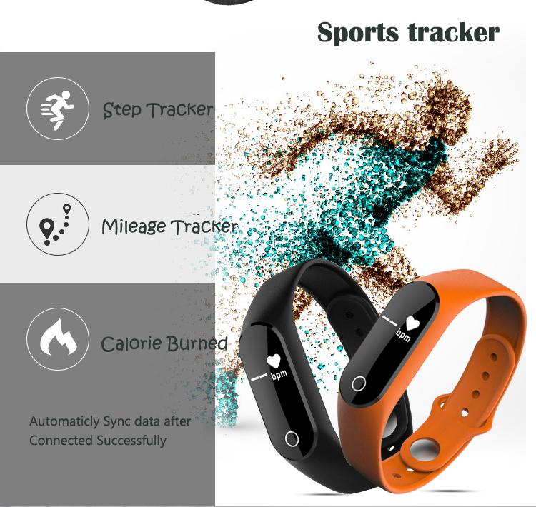 Customized logo Heart Rate Monitor Smart fitband Waterproof with Touch Screen Heart rate band