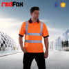 custom high visibility mens reflective polo shirt