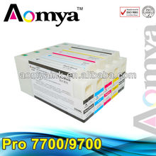 empty ink cartridge with reset chip for epson 7700 9700