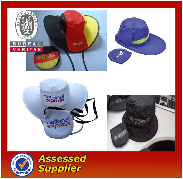 Best Selling Custom Cheap Popular Logo Folding Waterproof Folding hat/ Foldable Hat/ Fold Hat