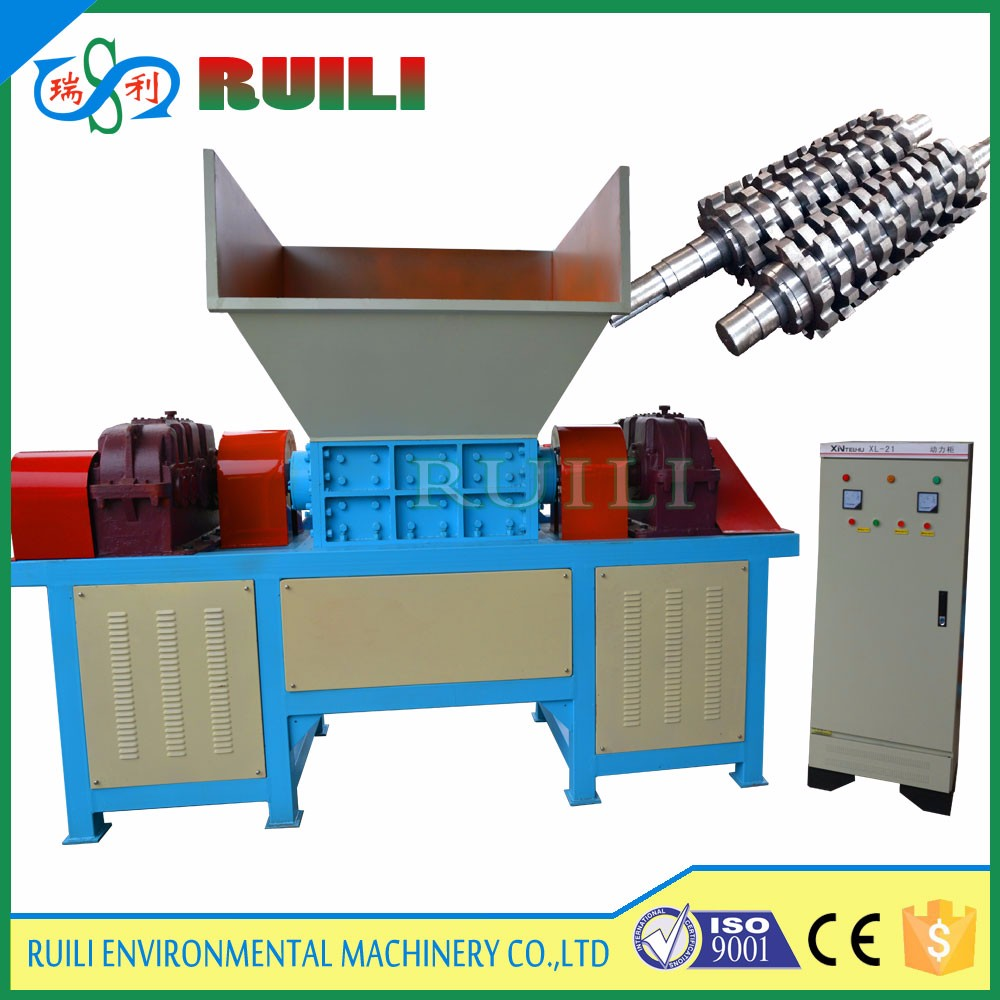 Double Shaft Aluminum Cans Shredder for Plastic Recycling