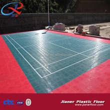 Outdoor Sports PP Interlocking Tiles Flooring Covering for tennis court