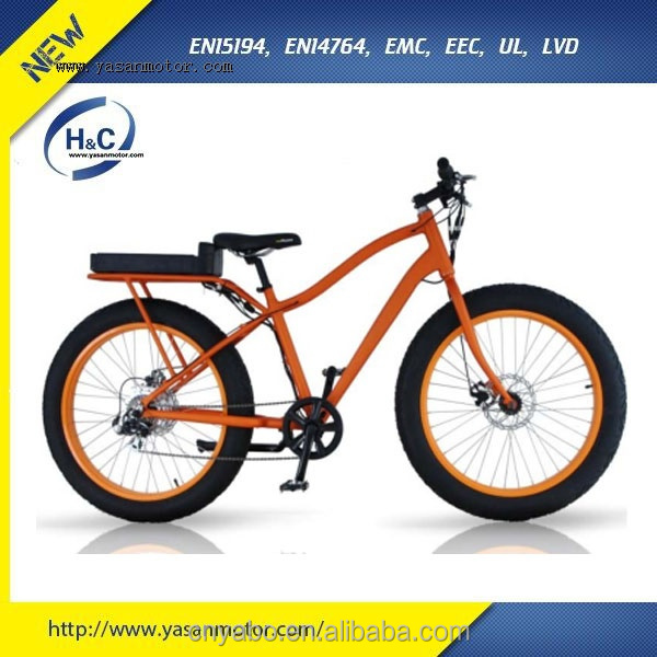 Aluminum Alloy frame fat tire snow electric bicycle easy riding bike with 36V 11Ah Li-ion