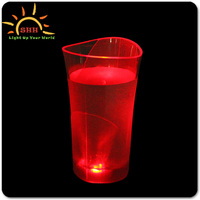 LED PARTY wine cup glasses New Product 2016 Party Decoration Plastic Flashing Customized Logo Printed glass