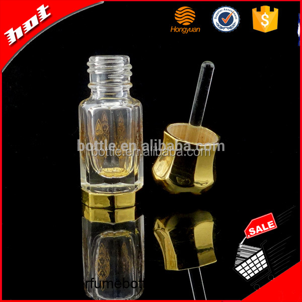 3ml Fancy Attar/Perfume Glass Bottle Crystal Perfume Bottle With Glass Stick
