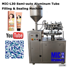 Alibaba Assured MIC-L30 Semi-auto Aluminum Tube Shoe Polish Filling Sealing Machine
