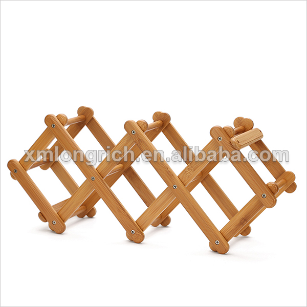 wooden wine rack for home decor,new products,Popular grace bamboo wine cabinet shop shelves