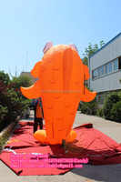 4m high inflatable fish for outdoor decoration C-176