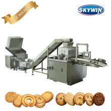 2017 Skywin Design New Stainless Steel Automatic Biscuit Cookie Production Line, Butter Cookie Machine