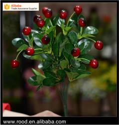 2016 New style home decor artificial plants red cherry fruit