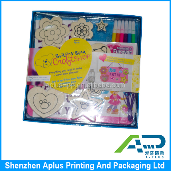 Promotional paper printed box for stationey packaging, adorable stationery packaging box for children