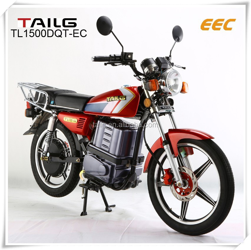 1500W EEC DC motor city electric motorcycle Tailg electric bike with big cushion seat
