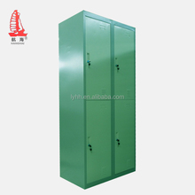Simple Hanging Clothes Almirah Knock Down Metal Storage Locker 4 Door Dormitory Cabinet