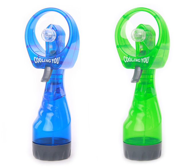 Custom color hand water spray fan,portable battery water mist mini fan