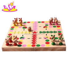 Wholesale cheap kids wooden chess, hot sale children wooden game W11A021