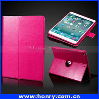 Hot Sales Plain PU Leather Case for iPad Air / iPad 5 with 3-folding Holder