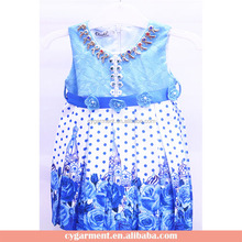 Top Fashion Children Clothes Baby Dress Girl Frocks Designing 2017 Summer