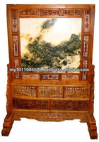 Huanghuali with marble Screen