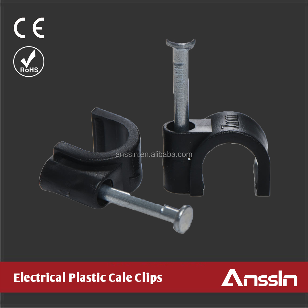 support wholesales 100pcs/bag plastic wall cable clip