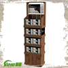 Vintage Wood Goods Display Stand , Supermarket Promotion Display , Pop Floor Display