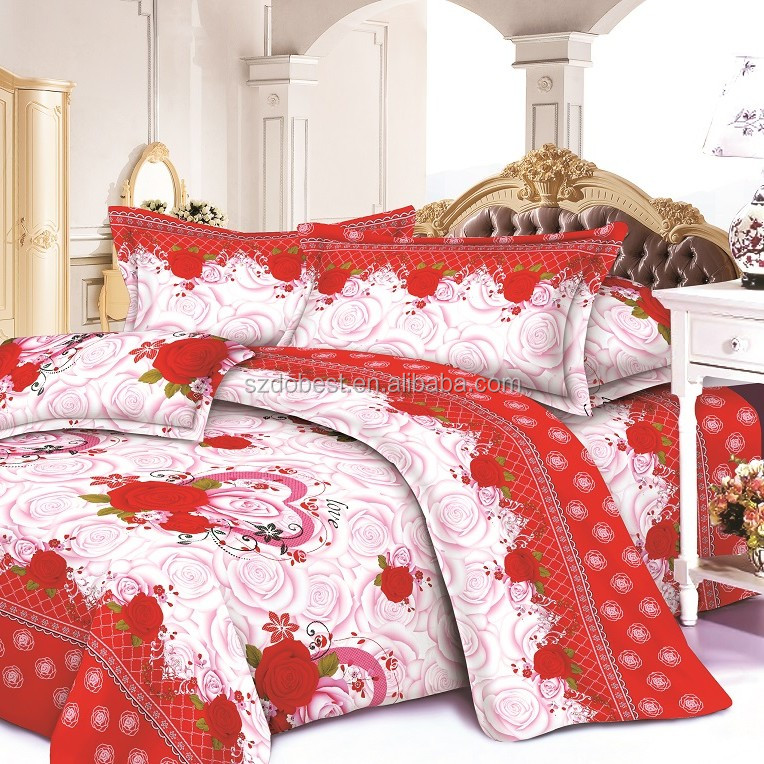 Home Candy Elegant Floral 3-D Reactive Print Double Bedsheet with 2 Pillow Covers -