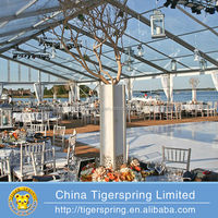 Strong aluminum wedding glass tent
