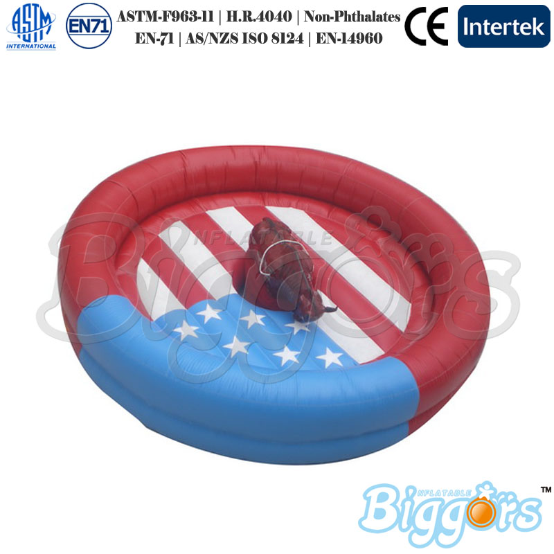 Inflatable Mechanical Bull Riding Machine Rodeo Bull Inflatable Mattess For Adults